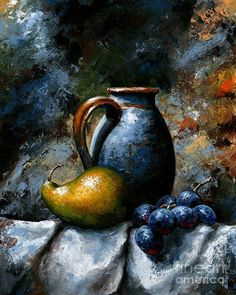 Still Life 24 Art Print by Emerico Imre Toth - - Still Life 24 Art Print by Emerico Imre Toth ΝΕΚΡΗ ΦΥΣΗ Fruit Painting Print featuring the painting Still Life 24 by Emerico Imre Toth Fruit Painting, Painting Prints, Fine Art Prints, Paintings, Still Life Oil Painting, Woman Painting, Abstract Painters, Still Life Art, Caravaggio