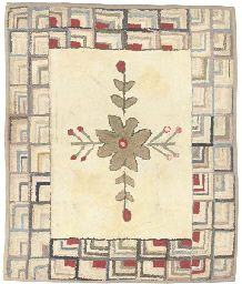 AN AMERICAN HOOKED RUG (really like this overall layout)