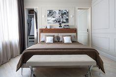 Квартира в спокойных тонах для девушки в Москве (84 кв. м)   Пуфик - блог о дизайне интерьера