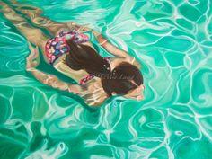 Artist Mia Laing - Western Australian award winning artist. mymiasart.com 'Iridescent Sea' oil on canvas 30x40'