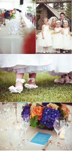 Flower girl dresses and ballet shoes!