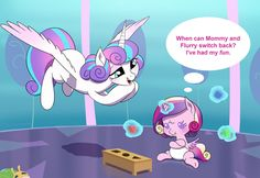 COM Flurry Switch by doubleWbrothers on DeviantArt My Little Pony Drawing, My Little Pony Comic, Flurry Heart, Tiny Horses, Mlp Memes, Baby Pony, Mlp Fan Art, Mlp Comics, Little Poney