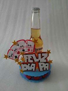 Ideas Para Fiestas, Deco Table, Pink Candy, Fathers Day, Cake Toppers, Dads, Lettering, Quilts, Bottle