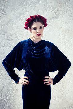 """Lady of Spain""  Creative Director + Stylist   Sydney Ballesteros  Photography   Stacia Lugo  Model   Becca Hammen  Makeup   Tangie Duffey  Hair   Raul Mendoza  Wardrobe   Black Cat Vintage  #vintage #fall2012 #baroque"