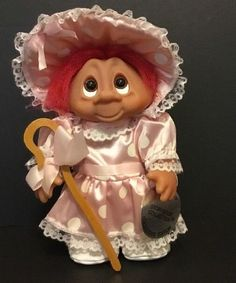 "8"" Little Bo Peep Storybook Collectors Edition W/Tag- Dam Norfin Troll Doll 1993 #Dam #TrollDoll"