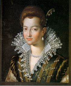 Jacopo Zucchi, Marie de' Medici ( 1575-1642) was Queen of France as the second wife of King Henry IV of France, of the House of Bourbon. She herself was a member of the wealthy and powerful House of Medici. Following the assassination of her husband in 1610, which occurred the day after her coronation, she acted as regent for her son, King Louis XIII of France, until he came of age. She was noted for her ceaseless political intrigues at the French court and extensive artistic patronage. Renaissance Fashion, Italian Renaissance, Renaissance Art, Renaissance Portraits, Renaissance Paintings, Adele, Baroque Painting, French Royalty, Old Portraits