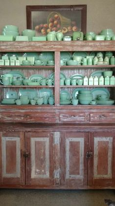 milk green vintage glass and dinnerware...