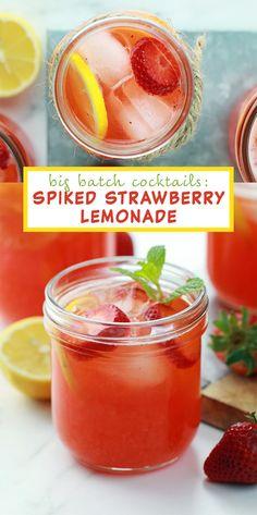Big Batch Cocktails: Spiked Strawberry Lemonade