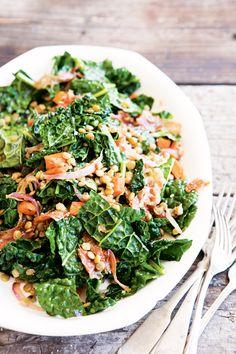 Warm Lentil and Kale Salad @williamssonoma