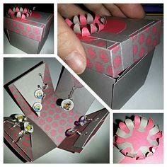 Die wurde es jetzt. Diese #explosionsbox soll die Geburtstagsgeschenke einer Bekannten beherbergen. Ich bin endlich zufrieden mit der #dekoration #selbstgemacht #diy #ohrringe #present #mafflumomente #oktoberobsession @mafflumomente  #bastelnisttoll