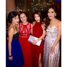 Beautiful @kissesoflife in #JarloLondon Red Orla Maxi Dress