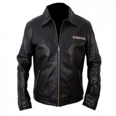 Sons Of Anarchy Black Biker Leather Jacket, made from genuine cowhide leather.