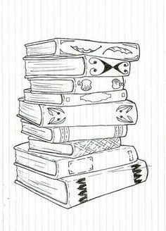 Stack of books Bullet Journal Books, Book Journal, Journals, Colouring Pages, Coloring Books, Book Tattoo, Cat Tattoo, Stack Of Books, Bullet Journal Inspiration
