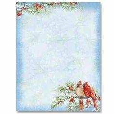 Holly Christmas Letterhead  Christmas Border Christmas Paper And