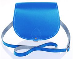 Classic Cornflower Blue Saddle Bag