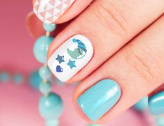 Expecting a baby or hosting a shower? Nail art from www.moonsugardecals.com makes a great gift for the expecting mom to be! #itagirl #itsaboy #expecting #nail art #moonsugardecals