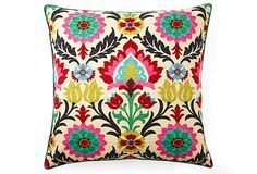 One Kings Lane - Prints & Patterns - Santana 26x26 Cotton Pillow, Multi
