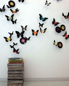 Homemade decor made out of old CD records what do you guys think?