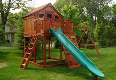 Vist http://backyardfunfactory.com/ to view many options for our redwood play sets line. Customize your own or let us create something just perfect for your whole family.