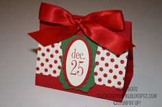 made out out a third sheet of paper scored   no die used  Stuck on Stampin': 12 days of Christmas {projects} - day 11