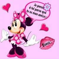 Je pense à toi parce que tu es mon ami(e) :) True Friends, Best Friends, Beau Message, Dear Best Friend, Happy Day, Facebook, Minnie Mouse, Disney Characters, Fictional Characters