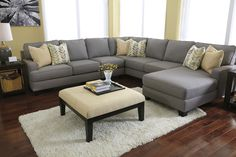 Chamberly 3 Piece Sectional in Gray by Ashley - Home Gallery Stores