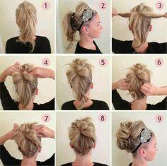 easy ponytail bun