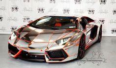 Chrome Lamborghini Aventador