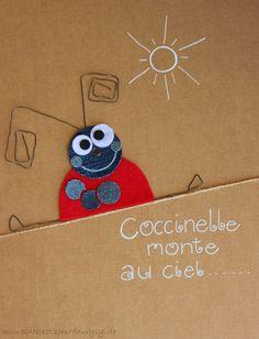 Coccinelle monte au ciel.... Recyclage des pantalons #jeans #recycle