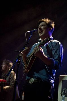 """mumfordandsonslive: """"Marcus Mumford and Ben Lovett performing live at the Kentish Town Forum on sat October 2009 for the Q awards. Q Awards, Folk Bands, Marcus Mumford, Music Express, Banjos, Mandolin, Les Miserables, Mix N Match, Good People"""