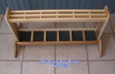 Handcrafted Free Standing Wooden Ski Rack