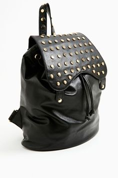 Flip Stud Backpack.black leather backpacks for fashion girls   #leather  #backpacks #girls www.loveitsomuch.com