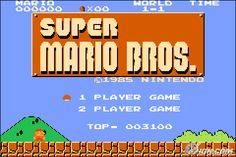 The Original Super Mario Brothers.