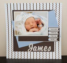 Newborn scrapbook page