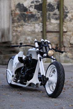 cool black & white motorcycle