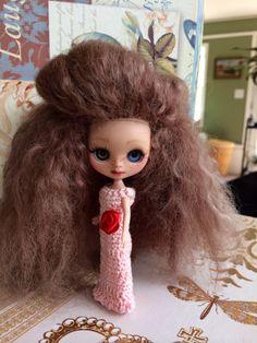 Custom Petite Blythe Doll OOAK Art Doll Named Blue by EmmyBlythe, $135.00