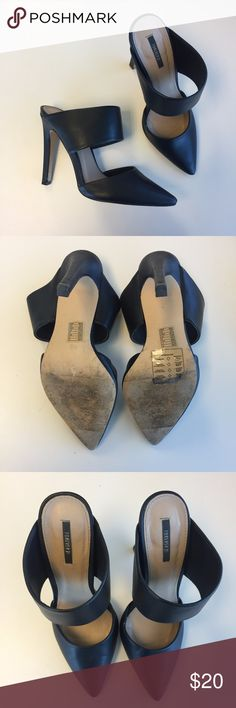 Forever21 Black Mules Cute mules. Please review all photos. Pre-loved and has some knicks but still in good condition. Forever 21 Shoes Mules & Clogs