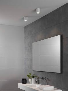 The Kos bathroom ceiling lights in matt white by Astro Lighting.