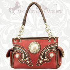 Montana West Western Concho Handbag