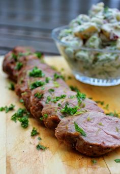 Pork sirloin - marinated in chipotle, lime and honey Chipotle, Lime, Pork, Honey, Beef, Kale Stir Fry, Meat, Lima, Pigs