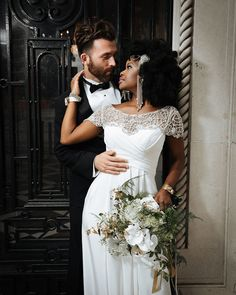 Beautiful interracial couple wedding photography #love #wmbw #bwwm