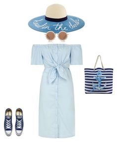 """Summer outfit"" by georgi-medrea on Polyvore featuring Topshop, Converse and House of Holland"