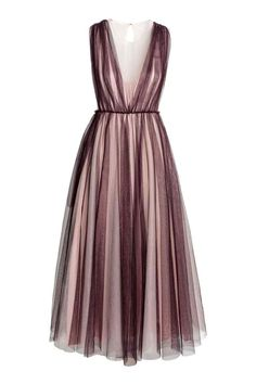 Sleeveless, ankle-length dress in several layers of tulle made from polyester. Opening at the back with a hook-and-eye fastening at the back of the neck, concealed zip in the side and a seam at the waist. Brown Evening Dresses, Brown Cocktail Dresses, Pretty Dresses, Beautiful Dresses, Dress Skirt, Dress Up, Chiffon Dress, Strapless Dress, Vestidos Zara