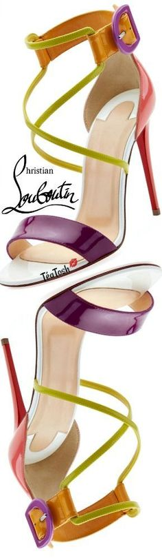 ❈Téa Tosh❈ Christian Louboutin, Choca Patent Red Sole Sandal