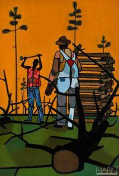 The Woodcutter    Date: c. 1945  Artist: Robert Gwathmey American, 1903 - 1988     Medium: Oil on canvas