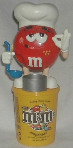 M's 5 Stars Red Cook Candy Dispenser With Container