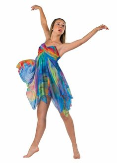 Lyrical dance costume over a dress Modern Dance Costume, Cute Dance Costumes, Dance Costumes Lyrical, Lyrical Dance, Dance Recital, Ballet Costumes, White Costumes, Halloween Costumes, Ugly Dance