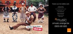 Die Hanz Rodeo Band. Orange Music launch campaign newspaper advert. 2000. VVL BBDO.