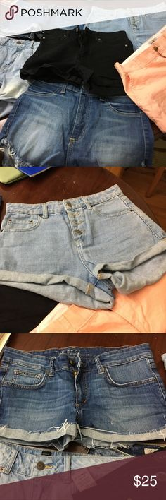 Denim Shorts Size 5 - 7 pairs of shorts for $25 or best offer- Forever21, old Navy, STs Blue, the best friends, GJG Forever 21 Shorts Jean Shorts