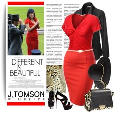 She loves red and she's beautiful (plus size), created by ansev on Polyvore